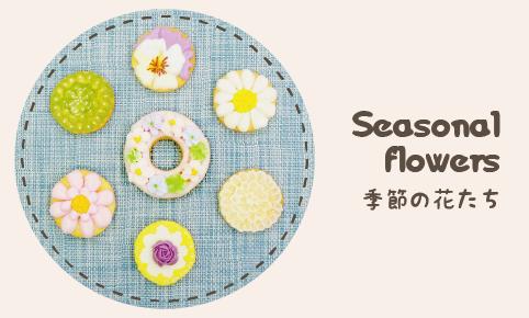 クッキー_季節の花たち